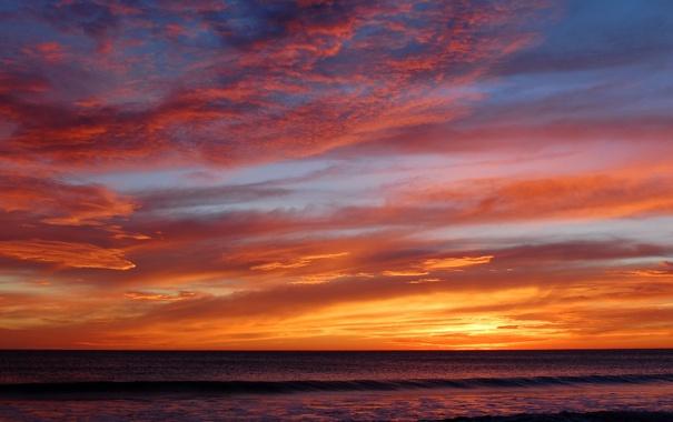 Фото обои море, волны, небо, вода, облака, фото, океан