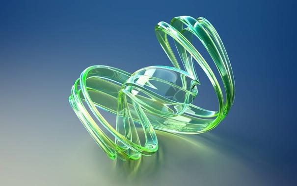Фото обои синий, абстракция, зеленый, голубой