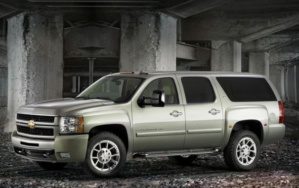 Фото обои столбы, Chevrolet, suburban
