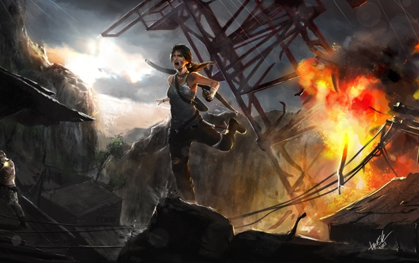 Фото обои Tomb Raider, Лара Крофт, Расхитительница гробниц