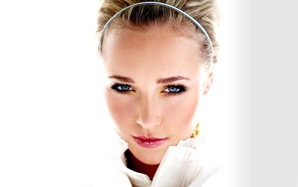 Фото обои взгляд, макияж, актриса, Hayden Panettiere, блондинка