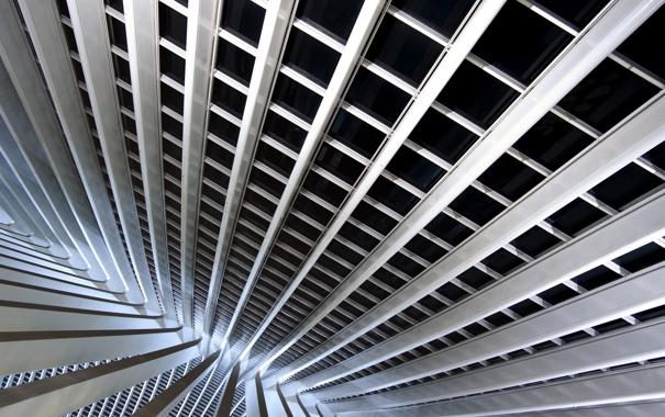 Фото обои конструкция, станция, Liège-Guillemins railway station, архиектура, The new station by the architect Santiago Calatrava