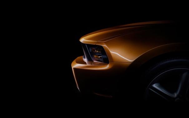 Фото обои Ford, mustang, черный фон, cars, auto