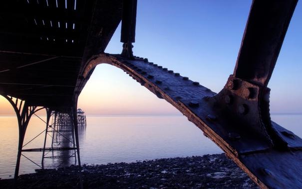 Фото обои макро, мост, опора