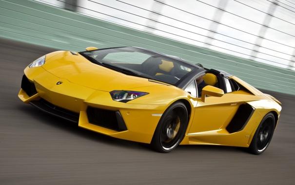 Фото обои Roadster, Машина, Желтая, Автомобиль, Lamborgini, Yellow, Ламборгини