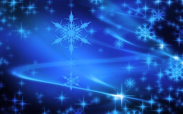 Фото обои линии, снежинки, звёзды