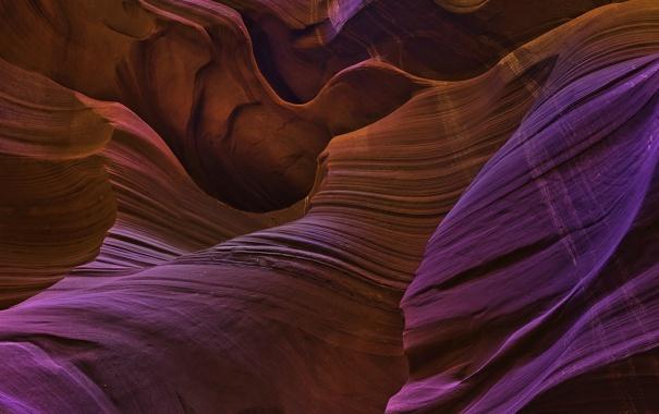 Фото обои волны, цвета, пещера, рельеф, песчаники