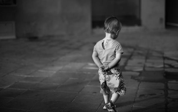 Фото обои настроение, улица, мальчик