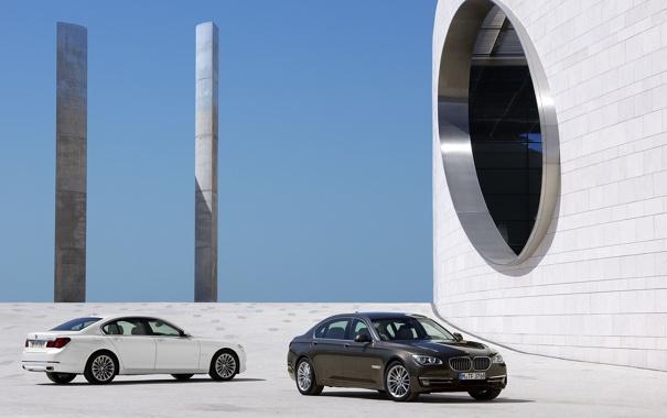 Фото обои Авто, BMW, Машина, БМВ, День, Здание, 7 Series