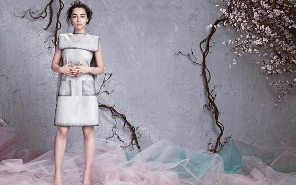 Фото обои журнал, фотосессия, Emilia Clarke, Flare