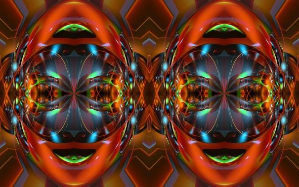 Фото обои абстракция, лицо, узор, цвет