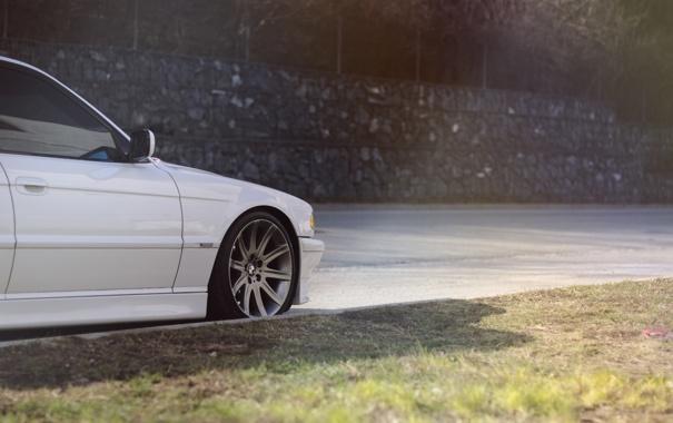 Фото обои Белый, BMW, Бумер, БМВ, White, E38, bimmer