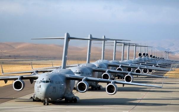 Фото обои C-17 Globemaster, U.S. Air Force, Airpower, elephant walk