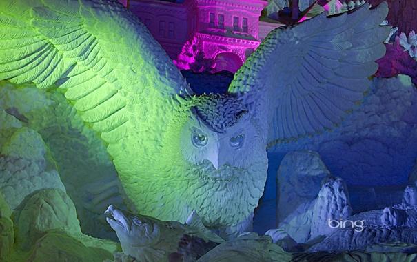 Фото обои снежный фестиваль, Одори, снежная скульптура, цвет, Япония, Саппоро, Хоккайдо