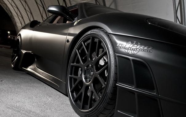 Фото обои Ferrari, диски, tuning, черные, матовая, performance, pro