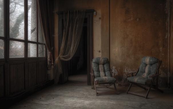 Фото обои комната, окно, кресла