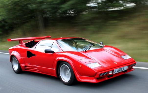 Фото обои авто, красный, Lamborghini, red, speed, Countach, LP5000