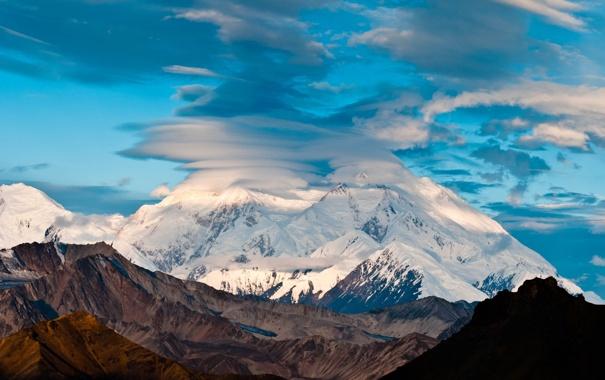 Фото обои гора, Аляска, Мак-Кинли