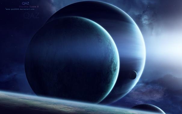 Фото обои поверхность, планеты, атмосфера