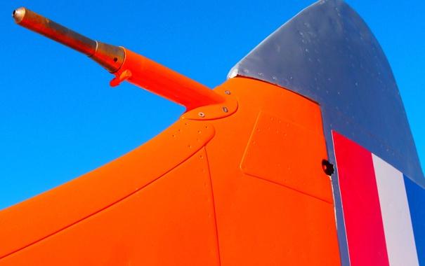 Фото обои истребитель, British Vampire Jet, вертикальный стабилизатор
