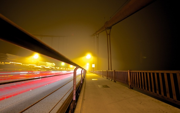 Фото обои fog, foggy, golden gate bridge, longexposure