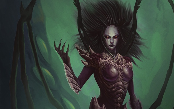 Oboi Starcraft Zerg Sarah Kerrigan Queen Of Blades