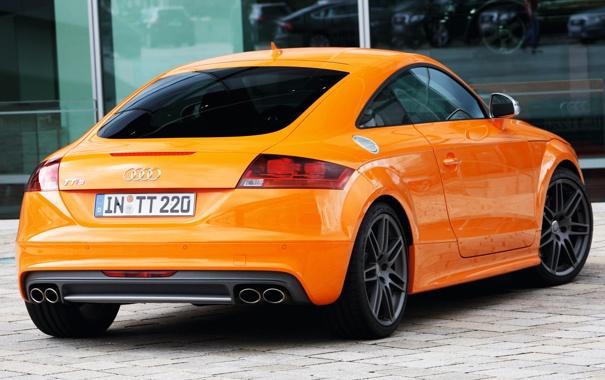 Фото обои car, Audi, Coupe, orange, задок, выхлопы, Audi TTS