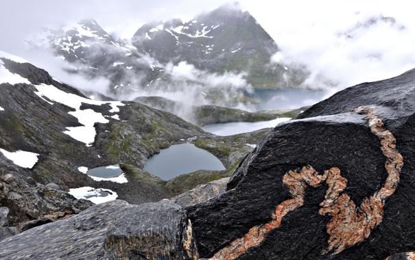 Фото обои небо, пейзаж, горы, природа