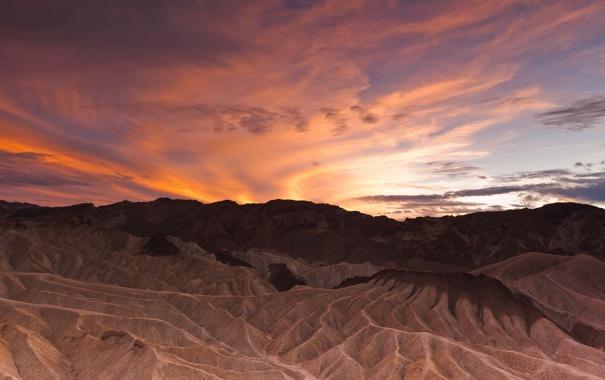 Фото обои закат, пейзаж, горы