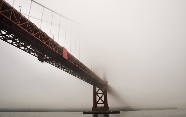 Фото обои san francisco, fog, golden gate bridge