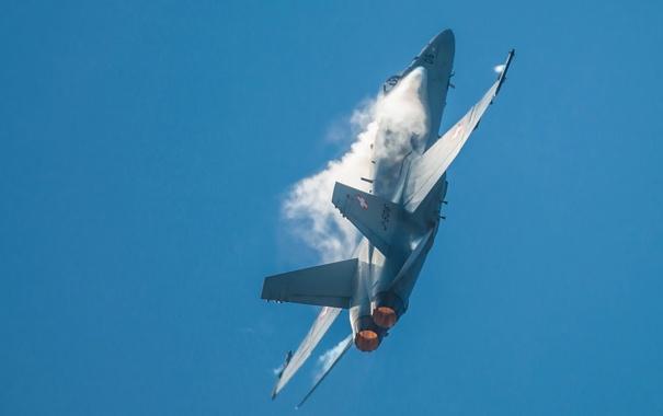Фото обои небо, оружие, самолёт, F-18 Hornet