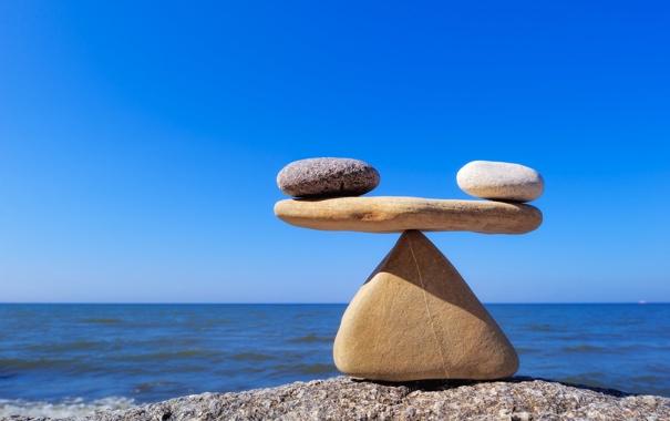 Фото обои white, black, stones, balance