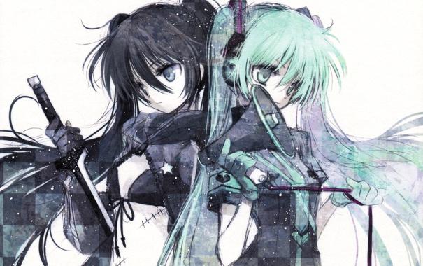 Фото обои vocaloid, hatsune miku, вокалоид, Black rock shooter, хацуне мику