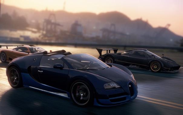Фото обои дорога, гонка, McLaren, спорткары, Zonda R, need for speed most wanted 2012, Veyron Grand Sport ...