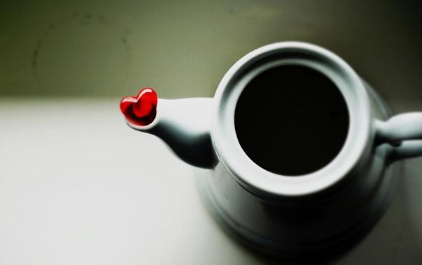 Фото обои сердце, кофе, сердечко