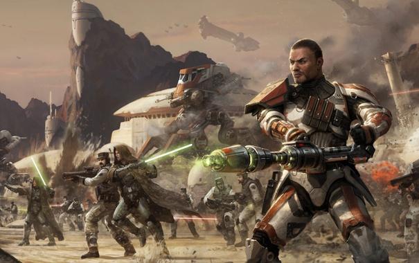 Фото обои война, солдат, звездные войны, Star wars, the old republic
