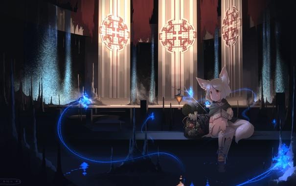 Фото обои аниме, арт, девочка, hebinui