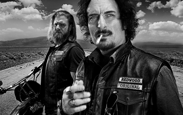 Фото обои байкеры, сериал, sons of anarchy, дети анархии