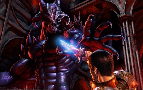 Фото обои Демон, CG Wallpapers, Рыцарь Смерти, Death Knight