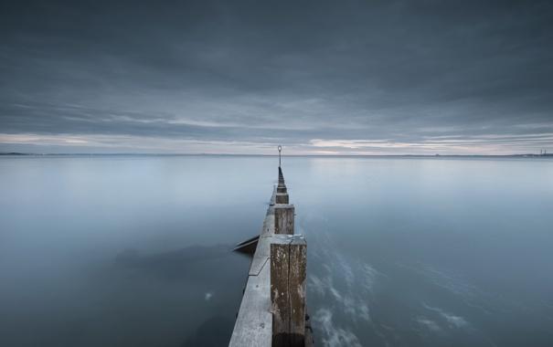 Фото обои пейзаж, ночь, море