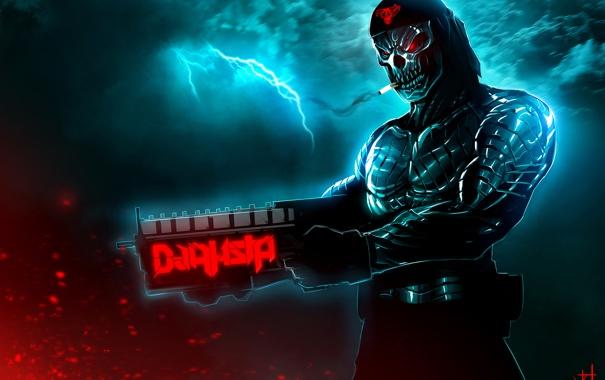 Фото обои art, by TheRisingSoul, Dark Cyborg