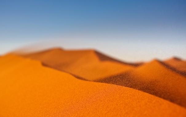 Фото обои песок, макро, фото, ветер, обои, пустыня, пейзажи