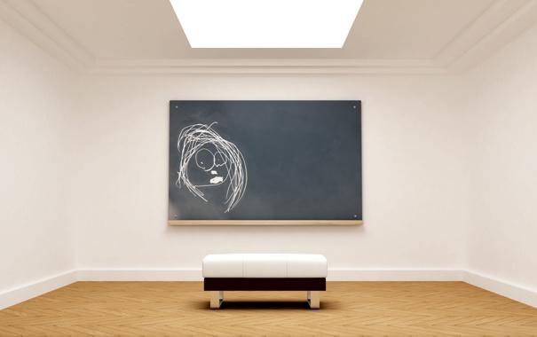 Фото обои скамейка, дизайн, стиль, комната, обои, стены, рисунок