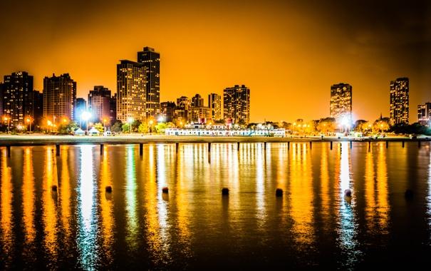 Фото обои city, город, Чикаго, USA, Chicago, Illinois