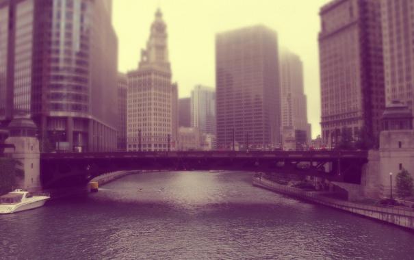 Фото обои здания, мичиган, чикаго, Chicago, иллинойс, америка, сша