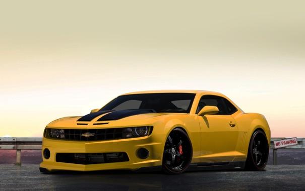 Фото обои Chevrolet, жёлтый, Camaro