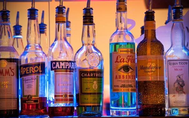 Фото обои обои, кайф, спиртное, бутылочки