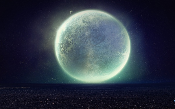 Фото обои space, universe, stars, planet