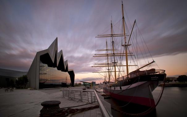 Фото обои город, Glasgow, Riverside Museum