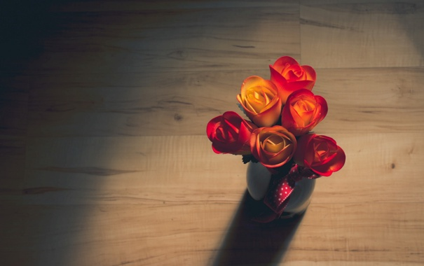 Фото обои свет, цветы, фон